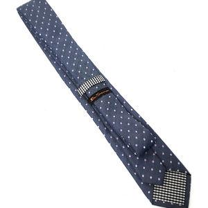 Mens Tie Blue Ben Sherman Polka Dot Skinny tie